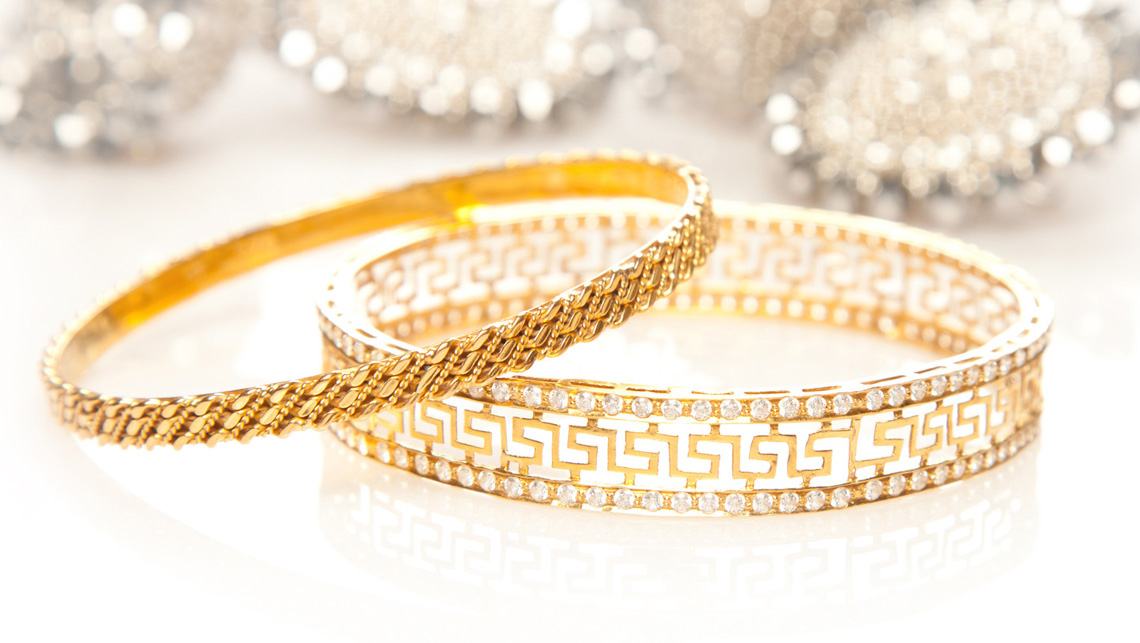 Photo of gold bracelets